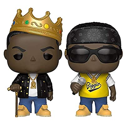 "Funko Pop! Rocks: The Notorious B.I.G. Collectible Vinyl Figures, 3.75"" (Set of 2): Toys & Games"