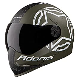 Steelbird Sbh-1 Adonis Tropper Matt Finish Full Face Helmet, Free Safety Pollution Mask (Large 600Mm,(Mat Military Green…