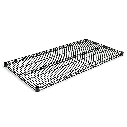 Alera SW584824BL  Industrial Extra Wire Shelves, 48w x 24d, Black (Case of 2) by Alera