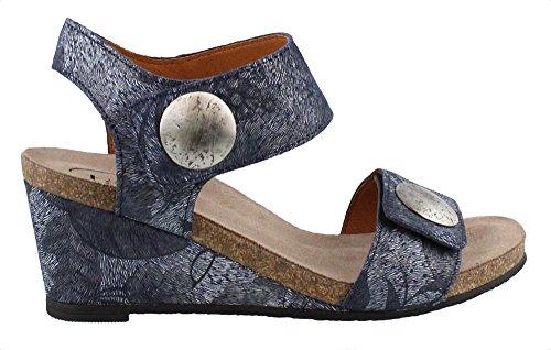 Taos Fodtøj Kvinders Karrusel 2 Læder Sandal Blå Blomster l8B2OwK7