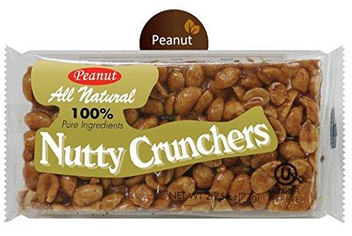 Nutty Crunchers All Natural Peanut Bar Made with Honey 2.75oz/24 OU Kosher