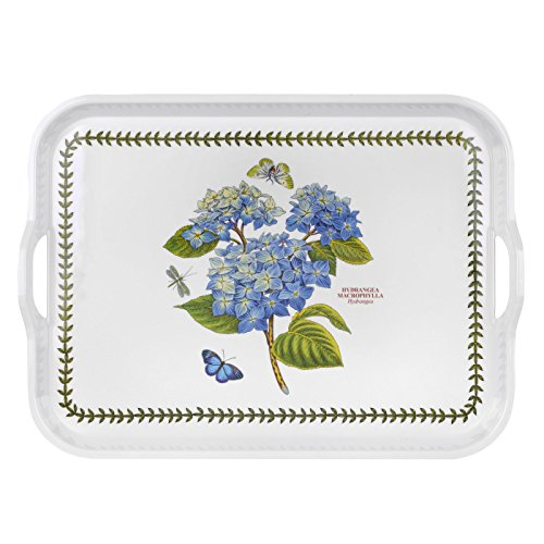 Portmerion Botanic Garden Hydrangea Handled Serving Tray 52cm by - Handled Pattern