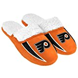 NHL Hockey Mens Team Logo Warm Sherpa Slide Slipper - Pick Team