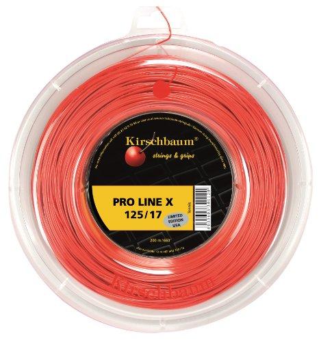 Kirschbaum Reel - Kirschbaum Reel Pro Line X Tennis String, 1.30mm/16-Gauge, Cherry Red