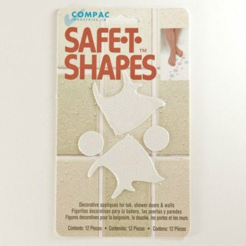 (White Fish) Safe-t-shapes Non-slip Safety Applique Stickers by Nonslip Appliques