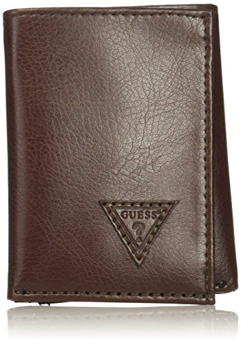 Guess Men's Logo Trifold Wallet, brown, One Size - Guess Purses Wallets