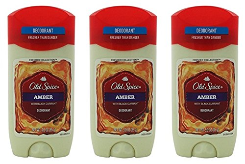 Old Spice Amber Fresher Collection Invisible Solid Mens Deodorant 3 Oz (Pack of 3)