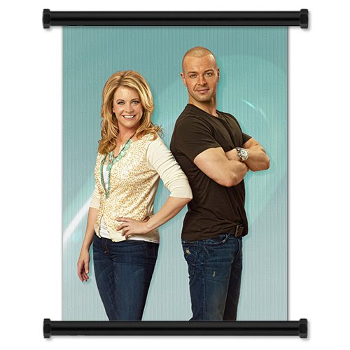 """Melissa & Joey TV Show Season 1 Fabric Wall Scroll Poster (32"""" X 43"""") Inches"""