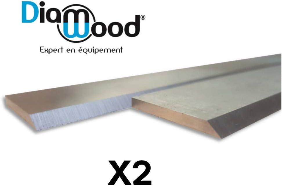 DIAMWOOD EXPERT EN EQUIPEMENT Jeu de 2 fers de d/égauchisseuse//raboteuse 250 x 30 x 3 mm acier HSS les 2 fers