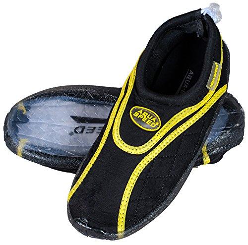 Aqua 9 Chaussures MODÈLE Noir Unisexe Chaussures Enfants Jaune en Ensemble d'eau Hommes Serviette Adolescents Microfibre Aquatiques Speed Néoprène Femmes wFaSqZrwx