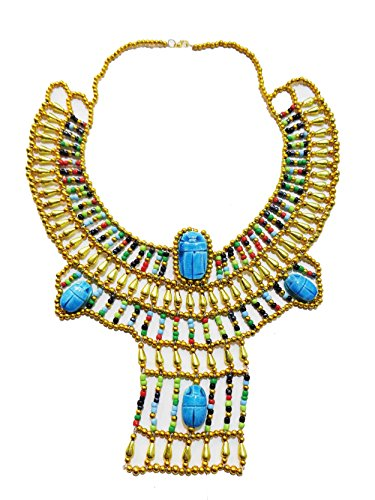 Egyptian Hand Made Multi Beaded Scarab Beads Cleopatra Nefertiti Queen Style 13.5
