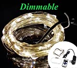 Zzmart Dimmable 12V 50ft 150 Leds String Lights with Wireless Remote Control-- Waterproof Flexible Copper Wire, Holiday Decorative LED Lights for Outdoor and Indoor (1, Warm White)