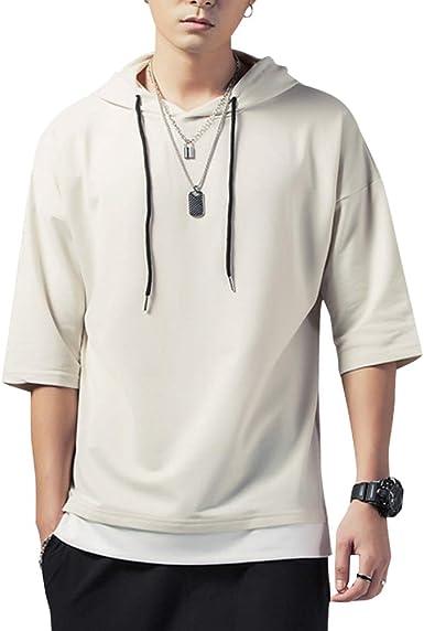 KENAIJING Camiseta Hombre, Hombre Sudadera con Capucha Hoodie Casual Camisa de Entrenamie: Amazon.es: Ropa y accesorios