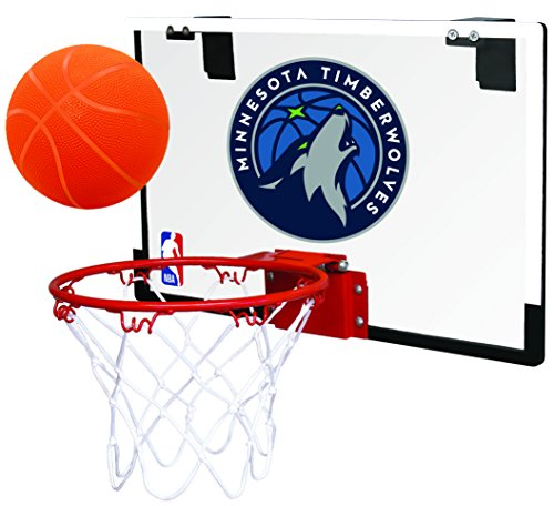 Rawlings NBA Minnesota Timberwolves 00664214111NBA Game On Polycarbonate Hoop Set (All Team Options), Blue, Youth
