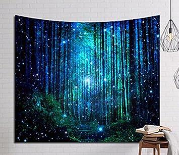 Tagesdecke Wandteppich Wand Kopfteil Bett Wohnwagen Fonds Flammig Photocall  Camping Unico Und Einzigartige Wald Sky