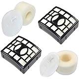 HQRP 2-pack Filter Kit (HEPA+ Foam & Felt) for Shark APEX AX950 AX951 AX952 DuoClean Powered Lift-Away Vacuum, XHF680 XFF680 Replacement + HQRP Coaster