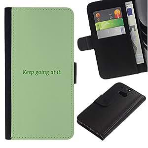 YiPhone /// Tirón de la caja Cartera de cuero con ranuras para tarjetas - Continuar en TI - HTC One M8