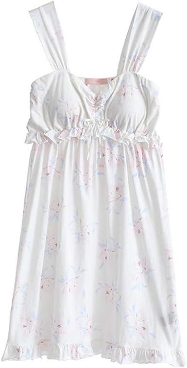 Pijama Pijamas Finos De Primavera Y Verano For Mujer Algodón Sexy Estampado Dulce Camisón For Niñas Inicio Pijama Casual Simple Y Cómodo Pijama de Mujer: Amazon.es: Ropa y accesorios