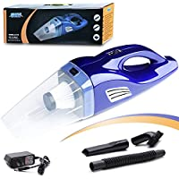 car Vacuum Cordless Rechargeable Vacuum Cleaner a Litium Lon Battery, Wet&Dry Handheld, 100W One Strong Filter (Blue)
