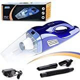 car vacuum cordless rechargeable Small Vacuum Cleaner by a Litium Lon Battery, Wet&Dry Handheld, 100W, with One Strong Filter (blue)
