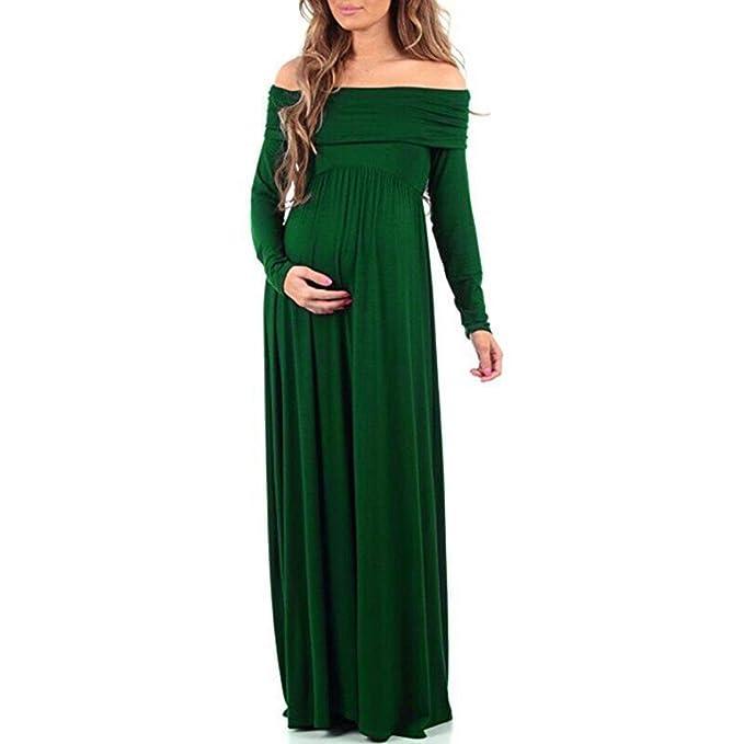 Mujeres embarazadas Accesorios de fotografía Vestido de enfermería con cuello vuelto sexy fuera de los hombros Las mujeres embarazadas Sexy Baby para ...