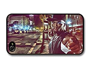 AMAF ? Accessories 50 Cent Gangster Pointing Finger on the Street case for iPhone 4 4S