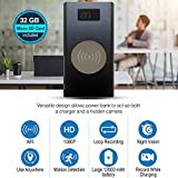 NinjaPro 2-in-1 Hidden Camera Power Bank 12000 mAh, Wireless Charging with 1080P HD Video Capturing, Night Vision, Motion Detection and Live Wireless App Access, Smart Home Surveillance, Nanny Spy Cam
