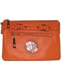 Belted Zipper Crossbody Handbag