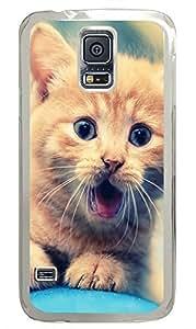 Samsung Galaxy S5 Cute Cat PC Custom Samsung Galaxy S5 Case Cover Transparent