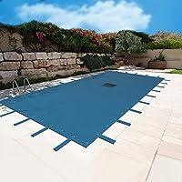Lona piscina 6 x 10 m – Filete para desagüe – azul – resistente – anti-UV – Claveles