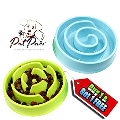 Slow Feeder Dog Bowl - Healthy and Happy Feeder, Puzzle Fun Feeder, Anti-Choke Dog Bowl. from XiDD, LLC
