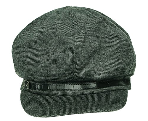 Nine West Newsboy Cap with Embossed Band Grey Women's One Size by Nine West