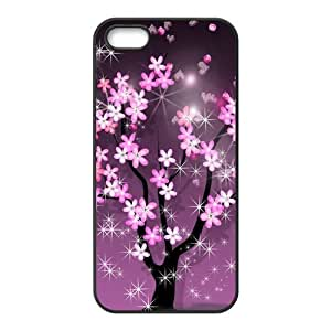 Sparkling Spring Sakura Beautiful Fashion Rubber Case Cover for Iphone 5 5s