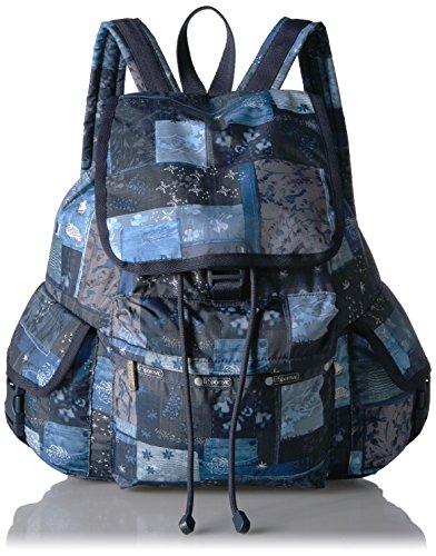 Signature Quilt Zip Apparel - LeSportsac Women's Classic Voyager Backpack, Denim Quilt