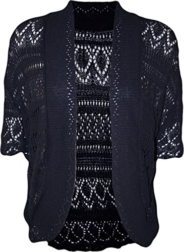 Forever Womens Plus Size Crochet Knitted Baggy Stretchy (Knitted Shrug)