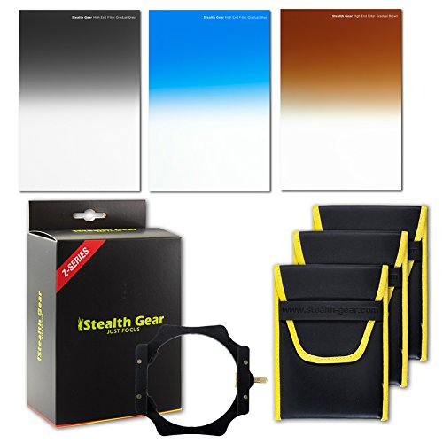 Stealth Gear Wide Range Pro Graduated Filter Kit - Grey/Blue/Brown