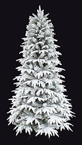 Slim Unlit Christmas Tree (Snowy Forest Spruce the Real Feel PE Flocked Narrow slim Artificial Christmas tree (6ft Unlit))