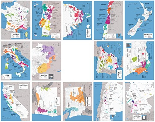 Wine Folly Major Wine Countries Map Poster Print Set 14-pc (12