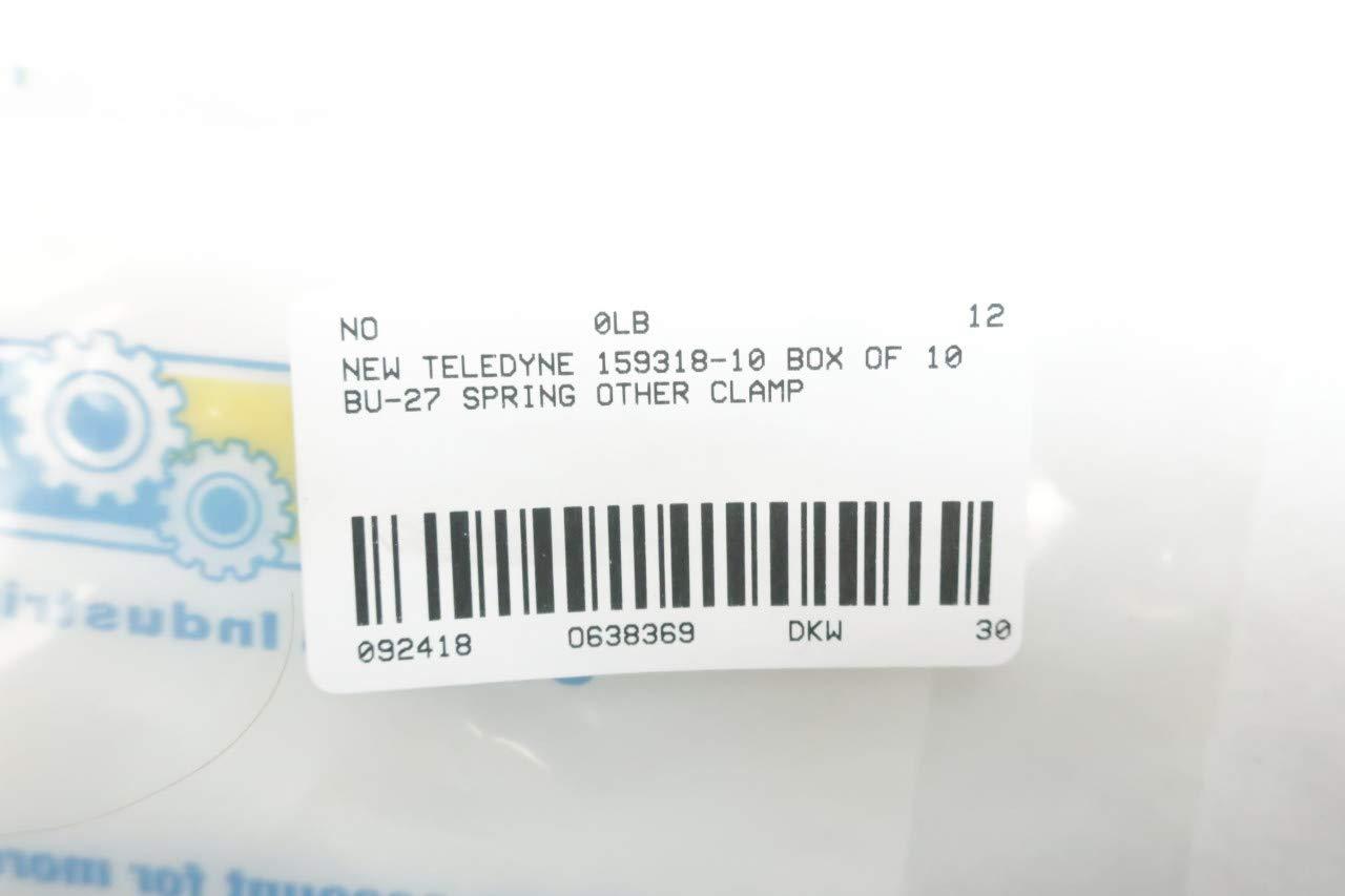 Box of 10 New TELEDYNE 159318-10 BU-27 Spring CLAMP D638369