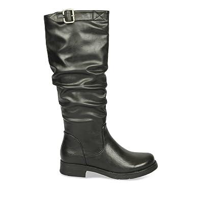 d72f64e33afac Bottes NOIR MyB Femme Chaussea  Amazon.fr  Chaussures et Sacs
