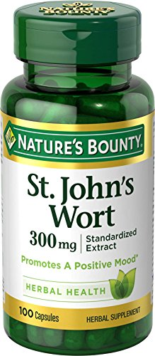 Nature's Bounty St. John's Wort Pills and Herbal Health Supplement, Promotes a Positive Mood, 300mg, 100 Capsules For Sale