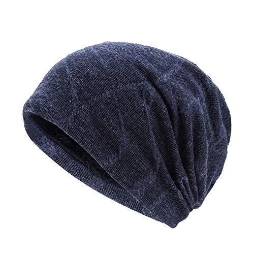 Pareja Cáncer Cobertura Sombrero Cabello Beanie Sombrero Beanie Gorra Beanie Caliente Moda Sombrero Blue Gorro De De Quimioterapia Sombrero Señoras Hombres Blue Paciente S65H5q
