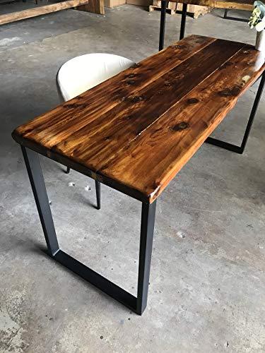 UMBUZÖ Solid Reclaimed Wood & Metal Desk