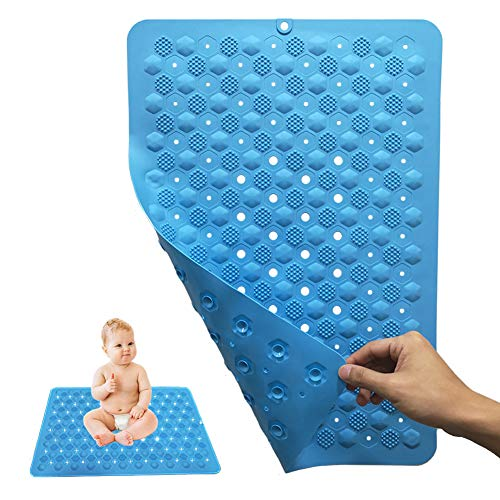 Silicone Non Slip Bathroom Mat (24X16), Gabriel Living Museum Breathable Shower Mat