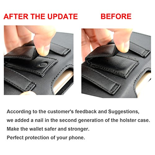 Galaxy S9 Holster Case,Dalmes Leather Galaxy S9 Belt Clip Case with Loops Belt Pouch Holder for Samsung Galaxy S9 /Galaxy S8 with a Thin Case On - Built In Card Slot - Black