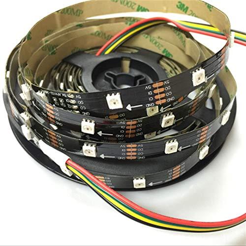 BGFHDSD APA102 Full Magic Color Addressable Led Strip Light 5M 30LED/M DC 5V IP20 LED Programmable LED Strips Project Lights Black PCB by BGFHDSD (Image #2)