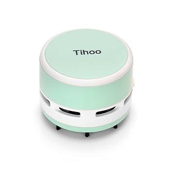 Aibecy Aspirador eléctrico Tihoo Portable Mini Desktop Table Aspirador de polvo recogedor Barredora para el teclado del ordenador portátil PC Office Clean ...