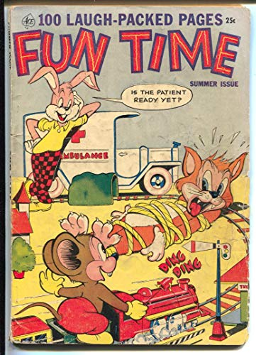 Fun Time #2 Summer 1953-Ace-bondage-model trains-robot-Giant Issue-VG