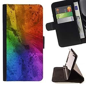 Momo Phone Case / Flip Funda de Cuero Case Cover - Sucias colorido del arco iris azul - Sony Xperia M2