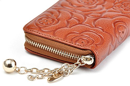 Demarkt Damen-Geldbörsen Frau Lange Mappe Brieftasche Large Zip Lange Geldbörse Kartenhüllen Rot 1PC Rot jhL2P4